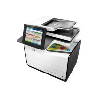 HP PageWide Enterprise Color Flow MFP 586z - Multifunction printer - colour - page wide array - 216 x 356 mm (original) - A4/Legal (media) - up to 50 ppm (copying) - up to 50 ppm (printing) - 550 sheets - 33.6 Kbps - USB 2.0, Gigabit LAN, USB 2.0 host, US
