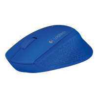 Logitech M280 - Mouse - right-handed - optical - 3 buttons - wireless - 2.4 GHz - USB wireless receiver - blue