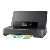 HP Officejet 200 Mobile Printer - Printer - colour - ink-jet - A4/Legal - 1200 x 1200 dpi - up to 20 ppm (mono) / up to 19 ppm (colour) - capacity: 50 sheets - USB 2.0, USB host, Wi-Fi