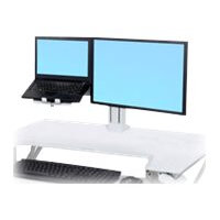 """Ergotron WorkFit - Cart upgrade kit for LCD display / notebook - steel - white - screen size: 24"""""""