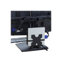 Ergotron Thin Client Mount - Mounting kit (holder, mounting hardware, strap) for personal computer - black - pole mount - for P/N: 45-353-026, 45-354-026