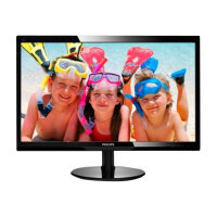 "Philips V-line 246V5LHAB - LED Computer Monitor - 24"" - 1920 x 1080 Full HD (1080p) - 250 cd/m² - 1000:1 - 1 ms - HDMI, VGA - speakers - textured black, glossy black"