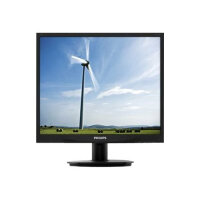 "Philips S-line 19S4QAB - LED Computer Monitor - 19"" - 1280 x 1024 - IPS - 250 cd/m² - 1000:1 - 5 ms - DVI-D, VGA - speakers - textured black"