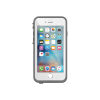LifeProof Fre - Protective waterproof case for mobile phone - silicone, polycarbonate, polypropylene, synthetic rubber - avalanche white - for Apple iPhone 6, 6s