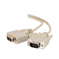 C2G Extension Cable - Serial extension cable - DB-9 (M) to DB-9 (F) - 2 m - molded, thumbscrews - beige