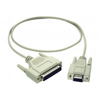 C2G - Serial cable - DB-9 (F) to DB-25 (M) - 3 m - molded, thumbscrews
