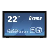 "Iiyama ProLite T2235MSC-B1 - LED Computer Monitor - 22"" (21.5"" viewable) - touchscreen - 1920 x 1080 Full HD (1080p) - VA - 3000:1 - 6 ms - DVI-D, VGA, DisplayPort - speakers - black"