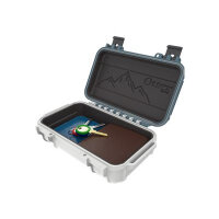 OtterBox DryBox 3250 - Hard case - stainless steel, polycarbonate - white/blue, Hudson