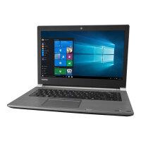 "Toshiba Tecra A40-C-1E5  Laptop - Core i5 6200U / 2.3 GHz - Win 10 Pro 64-bit - 4 GB RAM - 128 GB SSD - 14"" 1366 x 768 (HD) - HD Graphics 520 - Wi-Fi - steel grey metallic, tile black (keyboard) - Up to 8 Hours Battery Life"