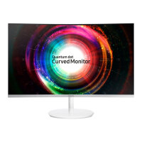 "Samsung CH71 Series C27H711QEU - QLED Computer Monitor - curved - 27"" (26.9"" viewable) - 2560 x 1440 WQHD - VA - 300 cd/m² - 3000:1 - 4 ms - HDMI, Mini DisplayPort - white"