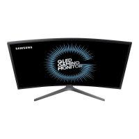 "Samsung CHG7 Series C27HG70QQU - QLED Computer Monitor - curved - 27"" (26.9"" viewable) - 2560 x 1440 Ultra WQHD - VA - 600 cd/m² - 3000:1 - 1 ms - 2xHDMI, DisplayPort - matte dark blue grey"