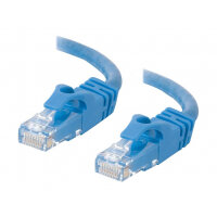 C2G Cat6 Booted Unshielded (UTP) Crossover Patch Cable - Crossover cable - RJ-45 (M) to RJ-45 (M) - 50 mm - UTP - CAT 6 - molded, snagless, stranded - blue