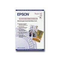 Epson - Radiant white - A3 plus (329 x 423 mm) - 188 g/m² - 20 sheet(s) watercolour paper - for Stylus Pro 4900 Spectro_M1; SureColor P400, P5000, P800, SC-P10000, P20000, P400, P5000