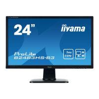 "Iiyama ProLite B2483HS-B3 - LED Computer Monitor - 24"" - 1920 x 1080 Full HD (1080p) - TN - 250 cd/m² - 1000:1 - 1 ms - HDMI, VGA, DisplayPort - speakers - black"