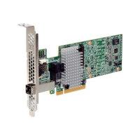 LSI MegaRAID SAS 9380-4i4e - Storage controller (RAID) - 8 Channel - SATA 6Gb/s / SAS 12Gb/s low profile - 12 GBps - RAID 0, 1, 5, 6, 10, 50, JBOD, 60 - PCIe 3.0 x8