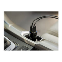 Targus Dual USB Car Charger For Media Tablets & Mobile Phones - Car power adapter - 17 Watt - 3.4 A - 2 output connectors (USB) - black