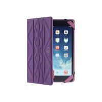 Tech air Flip and Reverse - Flip cover for tablet - microfibre - purple, pink