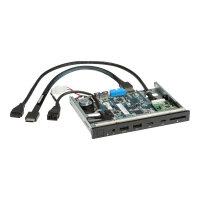 HP Premium Front I/O - System input/output panel - USB 3.1 Gen 1 x 2, USB-C 3.1 Gen 2 x 2 - for Workstation Z4 G4, Z6 G4