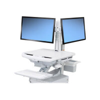 "Ergotron SV Dual Monitor Kit - Adjustable arm for 2 LCD displays - screen size: 24"" - cart mountable"