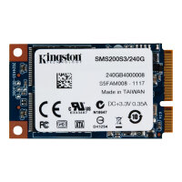 Kingston SSDNow mS200 - Solid state drive - 240 GB - internal - mSATA - SATA 6Gb/s