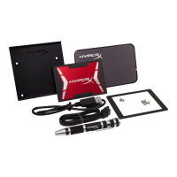 "HyperX Savage Upgrade Bundle Kit - Solid state drive - 480 GB - internal - 2.5"" (in 3.5"" carrier) - SATA 6Gb/s"