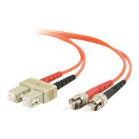 C2G ST-ST 50/125 OM2 Duplex Multimode PVC Fiber Optic Cable (LSZH) - Patch cable - ST multi-mode (M) to ST multi-mode (M) - 1 m - fibre optic - 50 / 125 micron - OM2 - halogen-free - orange