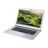 "Acer Chromebook 14 CB3-431-C6WH - Celeron N3060 / 1.6 GHz - Chrome OS - 4 GB RAM - 32 GB eMMC - 14"" 1366 x 768 (HD) - HD Graphics 400 - Wi-Fi, Bluetooth - sparkly silver - kbd: UK"