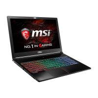 "MSI GS63VR 7RF 494UK Stealth Pro - Core i7 7700HQ / 2.8 GHz - Win 10 Home 64-bit - 16 GB RAM - 256 GB SSD + 2 TB HDD - 15.6"" 1920 x 1080 (Full HD) - GF GTX 1060 - 802.11ac, Bluetooth - black - with Back to School 2017"