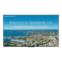 "Sharp PN-Q701K - 70"" Class - PN-Q Series LED display - digital signage - 1080p (Full HD) 1920 x 1080 - edge-lit - black"