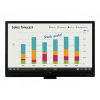 "Sharp BIG PAD PN-65SC1 - 65"" Class LED display - interactive communication - with touchscreen - 1080p (Full HD) 1920 x 1080 - edge-lit - black"