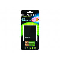 Duracell 1hr Speedy Charger CEF27-UK - Battery charger - 4xAA/AAA - included batteries: 2 x AA type 1700 mAh - United Kingdom - with 2 x AAA 750 mAh batteries