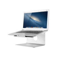 """NewStar Raised and Rotatable Aluminium Laptop Stand - Stand for notebook - brushed aluminium - silver - screen size: 10""""-17"""" - table-top"""