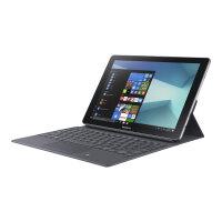 "Samsung Galaxy Book - Tablet - with detachable keyboard - Core m3 7Y30 / 1 GHz - Windows 10 Home - 4 GB RAM - 64 GB eMMC - 10.6"" touchscreen 1920 x 1280 (Full HD) - HD Graphics 615 - Wi-Fi, Bluetooth - 4G - silver, black (keyboard)"