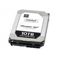 "HGST Ultrastar He10 HUH721010ALE601 - Hard drive - encrypted - 10 TB - internal - 3.5"" - SATA 6Gb/s - 7200 rpm - buffer: 256 MB - Self-Encrypting Drive (SED)"