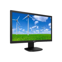 """Philips S-line 243S5LJMB - LED Computer Monitor - 24"""" (23.6"""" viewable) - 1920 x 1080 Full HD (1080p) - 1000:1 - 1 ms - HDMI, DVI-D, VGA, DisplayPort - speakers - black with hairline texture"""