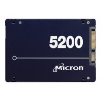 """Micron 5200 ECO - Solid state drive - encrypted - 7680 GB - internal - 2.5"""" - SATA 6Gb/s - 256-bit AES - Self-Encrypting Drive (SED), TCG Enterprise"""