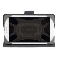 Targus Safe Fit Rotating Universal - Flip cover for tablet - polyurethane - black
