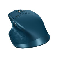 Logitech MX Master 2S - Mouse - laser - 7 buttons - wireless - Bluetooth, 2.4 GHz - USB wireless receiver - midnight teal