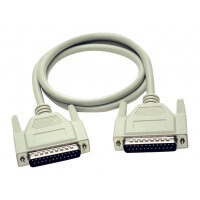 C2G - Serial / parallel cable - DB-25 (M) to DB-25 (M) - 2 m - molded, thumbscrews