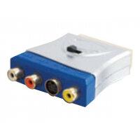 C2G - Video / audio adaptor - S-Video / composite video / audio - SCART (M) to 4 pin mini-DIN, RCA (F) - blue