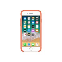 Apple - Back cover for mobile phone - silicone - spicy orange - for iPhone 7, 8