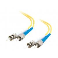 C2G ST-ST 9/125 OS1 Duplex Singlemode PVC Fiber Optic Cable (LSZH) - Network cable - ST single-mode (M) to ST single-mode (M) - 1 m - fibre optic - 9 / 125 micron - OS1 - halogen-free - yellow