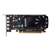 NVIDIA Quadro P600 - Graphics card - Quadro P600 - 2 GB GDDR5 - PCIe 3.0 x16 low profile - 4 x Mini DisplayPort - retail