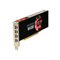 AMD FirePro W4300 - Graphics card - FirePro W4300 - 4 GB GDDR5 - PCIe 3.0 x16 low profile - 4 x Mini DisplayPort - for Workstation Z240, Z440, Z640