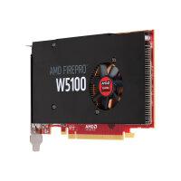 AMD FirePro W5100 - Graphics card - FirePro W5100 - 4 GB GDDR5 - PCIe 3.0 x16 - 4 x DisplayPort - for Workstation Z440, Z640, Z840