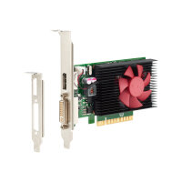 NVIDIA GeForce GT730 - Graphics card - GF GT 730 - 2 GB DDR3 - PCIe x8 low profile - DVI, DisplayPort - for HP 285 G3; EliteDesk 800 G3 (SFF, tower); ProDesk 400 G4, 600 G3 (micro tower, SFF)