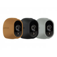 Arlo Replaceable Skins - Camera protective cover - grey, black, brown (pack of 3) - for Arlo VMS3130, VMS3230, VMS3330, VMS3430, VMS3530