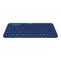 Logitech Multi-Device K380 - Keyboard - Bluetooth - UK English - blue