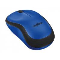 Logitech M220 Silent - Mouse - optical - 3 buttons - wireless - 2.4 GHz - USB wireless receiver - blue