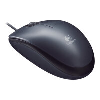 Logitech M90 - Mouse - right and left-handed - optical - wired - USB